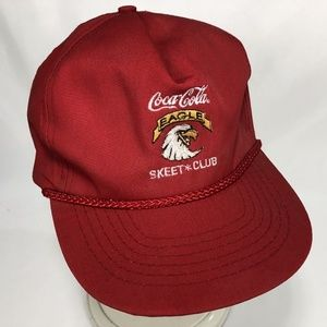 Other - Coke Coca Cola Eagle Skeet Club Hat Red Script
